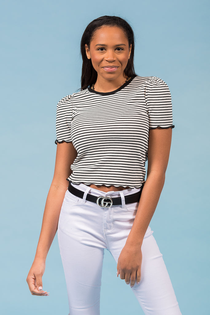 Just a Memory Top in White/Black