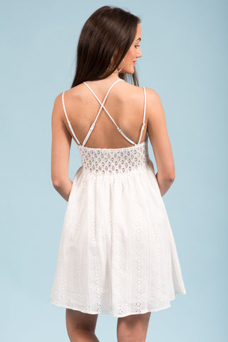 Dream Come True Dress in White