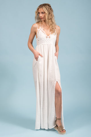 River of Grace Dress in White