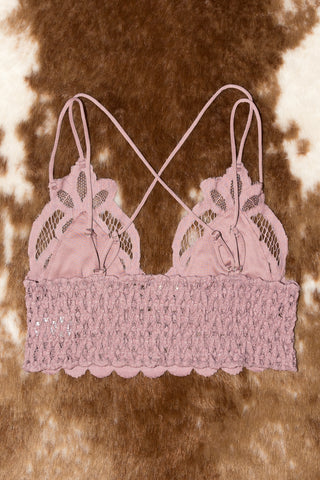 Fancy That Bralette in Light Mauve