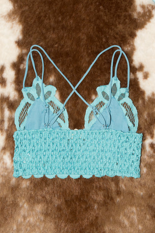 Fancy That Bralette in Aqua