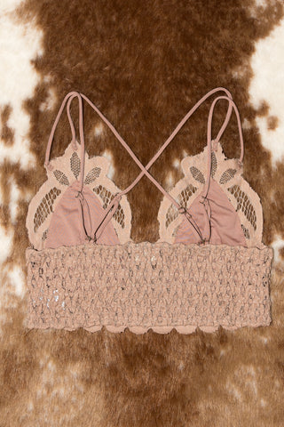 Fancy That Bralette in Taupe