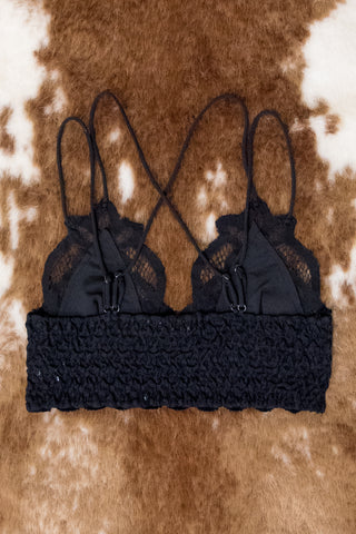 Fancy That Bralette in Black