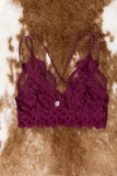 Fancy That Bralette in Burgundy