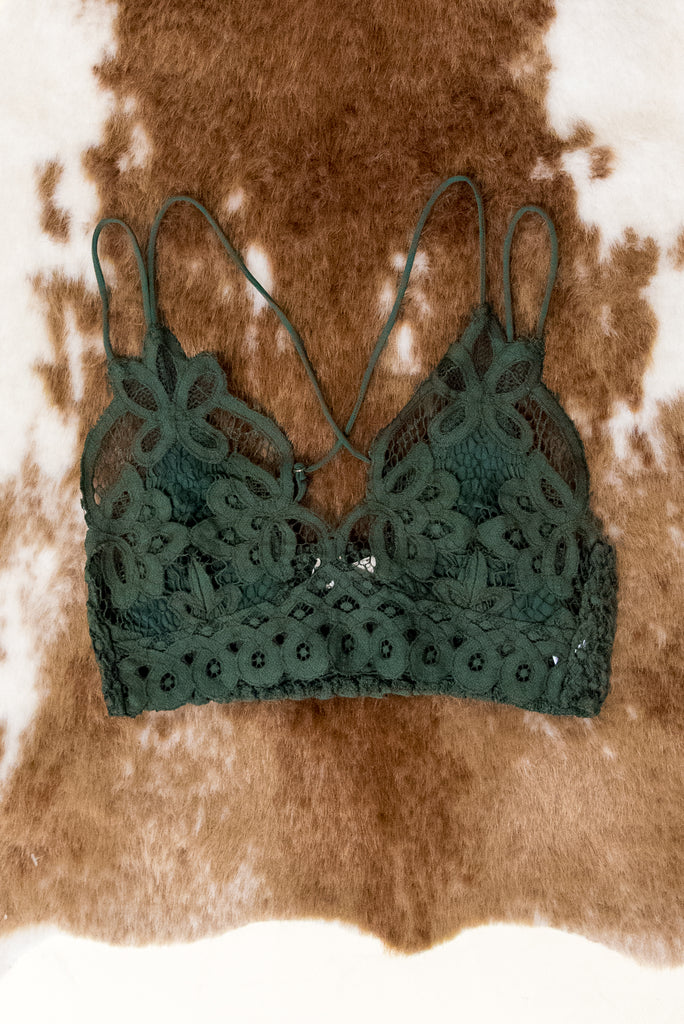Fancy That Bralette in Olive
