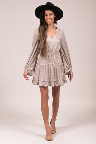 Moonlight Shimmer Dress in Silver