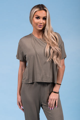 Keep It Moving Top in Olive