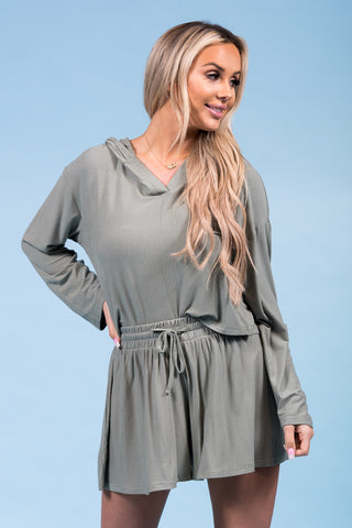 Run the World Top in Olive