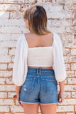 Cloud Nine Top in Off White