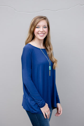 Piko Perfect Top in Navy
