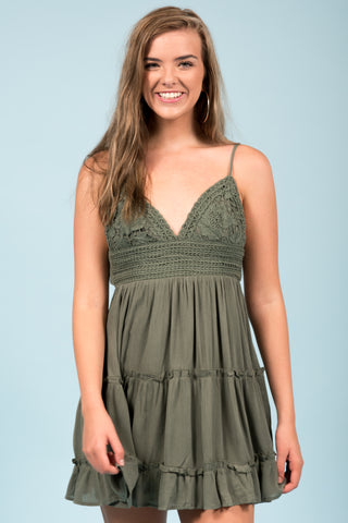 Get up and Dance Dress in Olive
