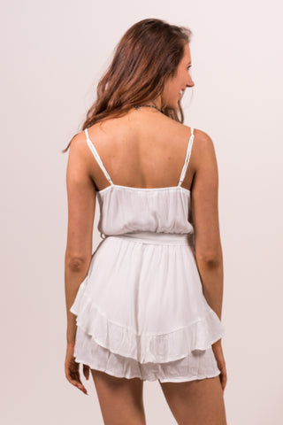 My Finest Hour Romper in Off White