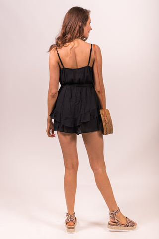 My Finest Hour Romper in Black