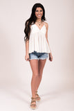 Bel Air Babydoll Tank in Off White