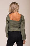 The Lucky One Top in Ash Olive