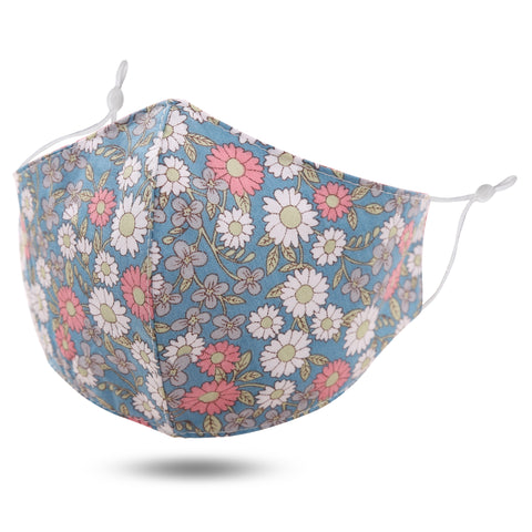Face Mask - Denim Floral