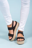 Boardwalk Beautiful Sandals in Black