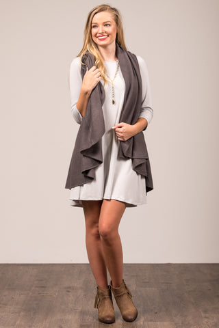Charlotte Cardigan in Dark Grey
