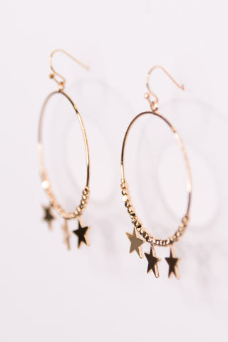 Rocker Chic Earrings in Gold Stars