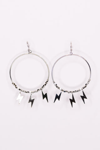 Rocker Chic Earrings in Silver Lightning