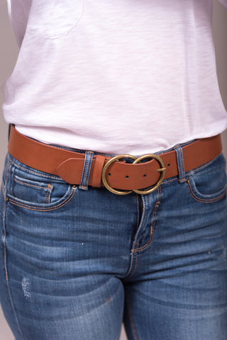 Shape of You Belt in Tan/Gold