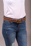 Shape of You Belt in Tan/White