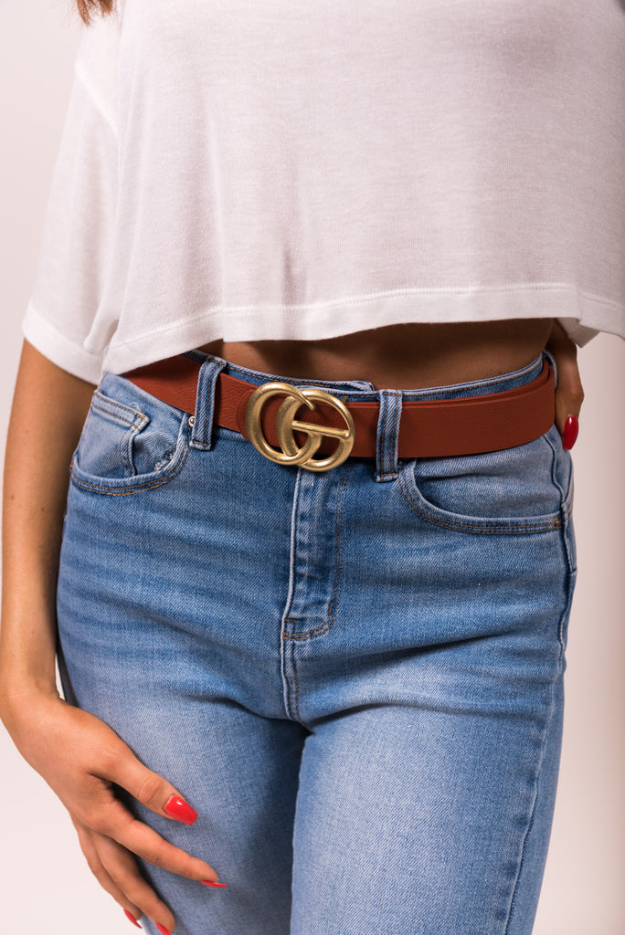 Don't Quit Belt in Cognac/Bronze