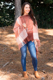 Midnight Air Poncho in Rose
