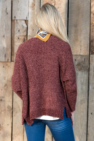 Starlight Cardigan in Marsala