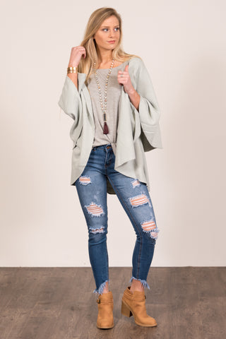 Charlotte Cardigan in Cool Mint