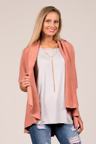Charlotte Cardigan in Rose