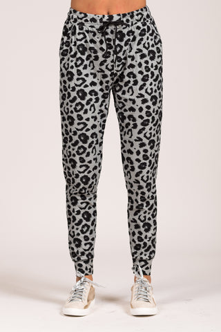 Invisible String Joggers in Grey Leopard