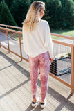 Invisible String Joggers in Mauve Tie Dye