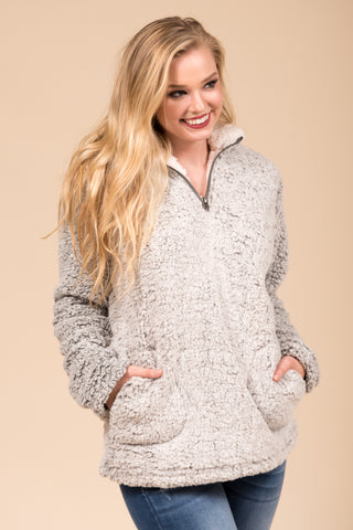 Winter Wonderland Pullover in Charcoal