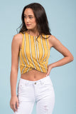 Take My Breath Away Top in Mustard