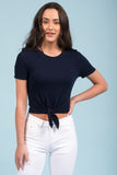 Lets Talk About it Top in Navy