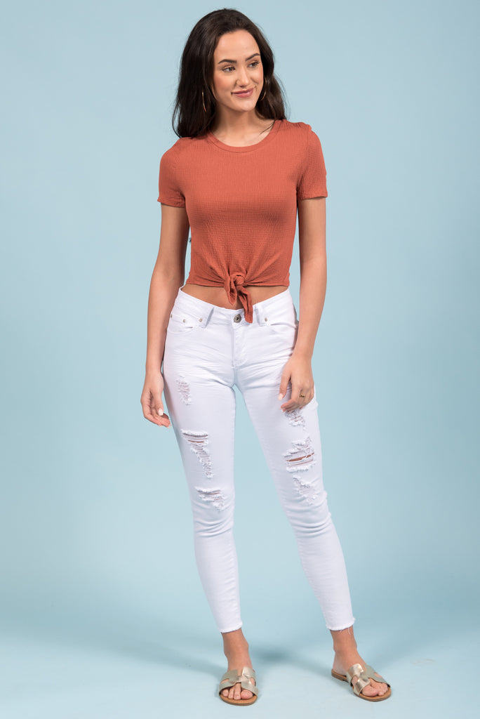 Brooke Jeans in White