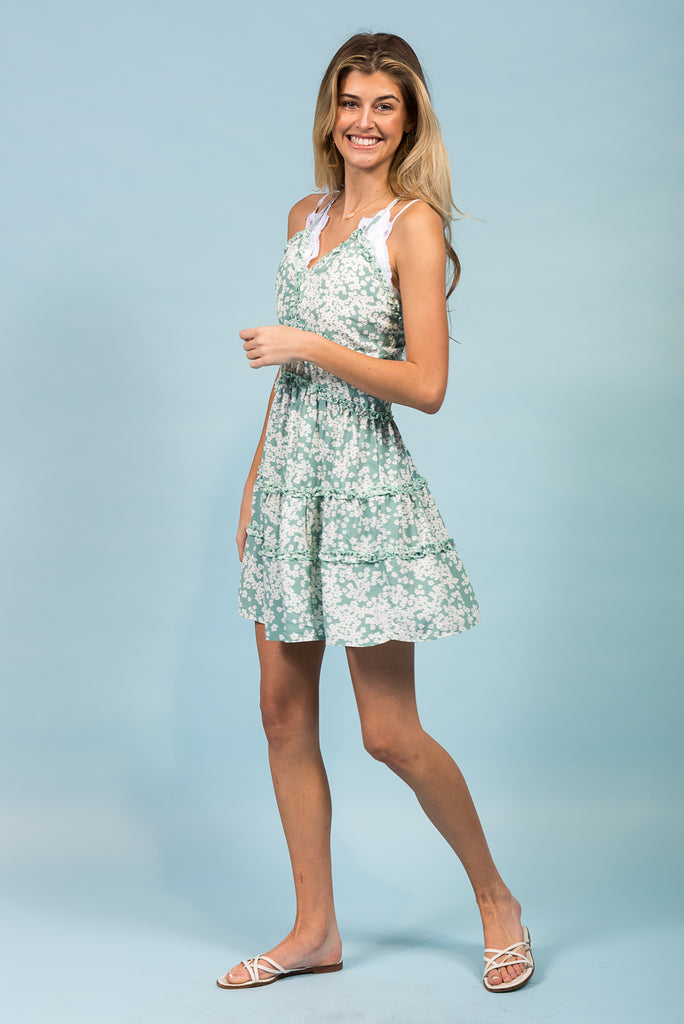 After The Storm Dress in Mint