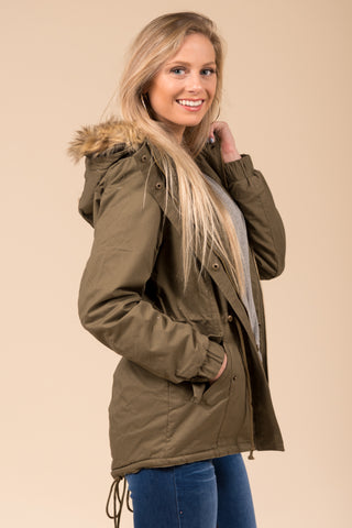 Frosty Forest Jacket in Olive