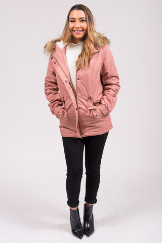 Frosty Forest Jacket in Mauve