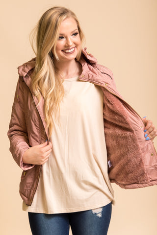 Coming to Town Jacket in Mauve