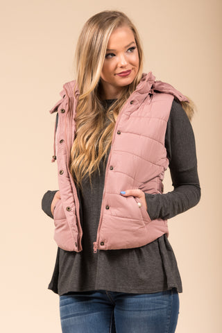Hold Me Tight Vest in Mauve