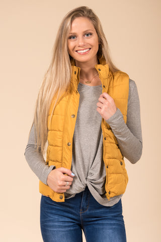 Hold Me Tight Vest in Mustard