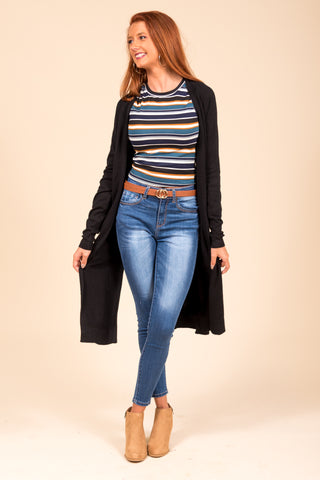 Winter Breeze Cardigan in Black