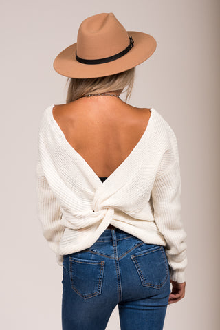 All Is Found Sweater in Ivory