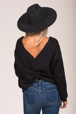 All Is Found Sweater in Black