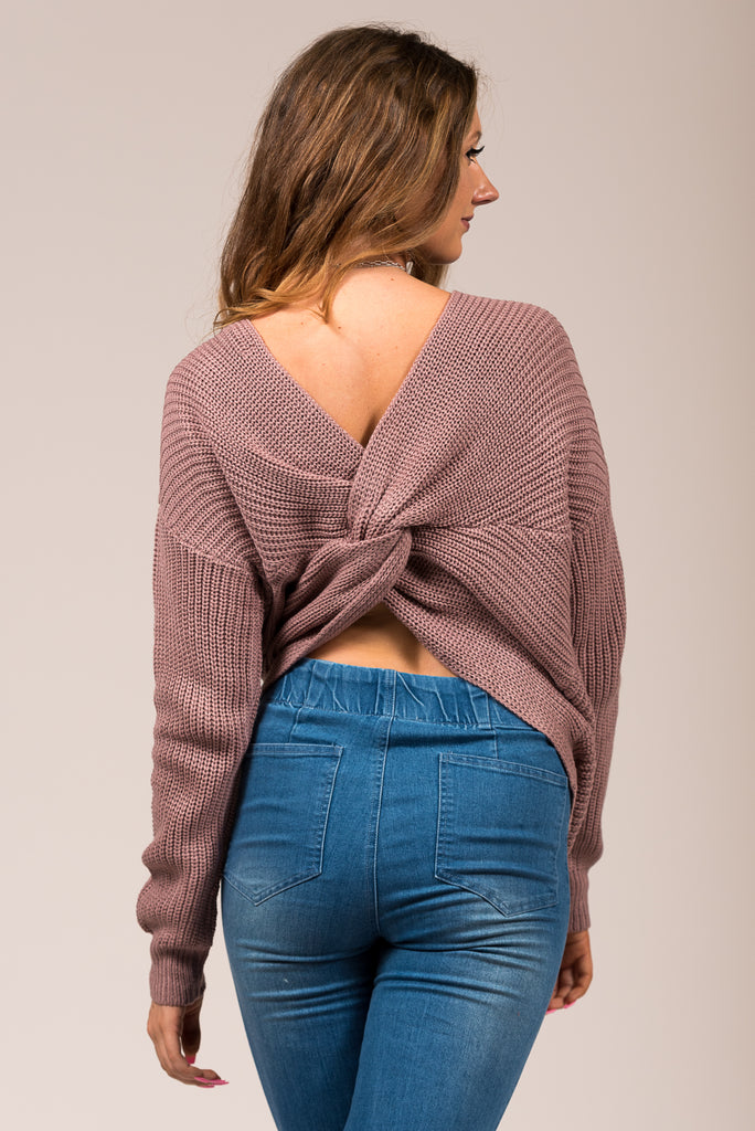 All Is Found Sweater in Mauve