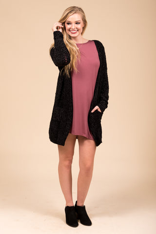 Winter Weather Cardigan in Black
