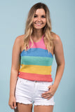Rainbow Sunset Top