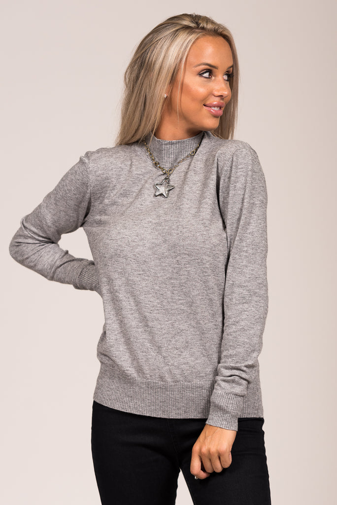 Hard to Forget Sweater in Heather Grey